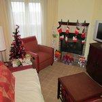 2-bedroom unit. Christmas Morning :)