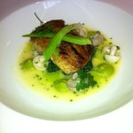 Cornish cod - leeks, wild mushrooms and chive butter sauce - superb!