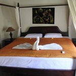 our bedroom upon arrival.