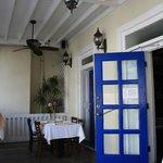 The veranda dining area