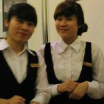 Our beautiful morning servers, Muoi and Hoa