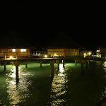 Overwater Bungalows at Night