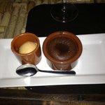 Chocolate Lava Souffle w/ Carmel ice cream