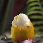 Our Kauai Made Gelato in a Papaya