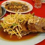Kerabu mangga fish