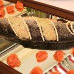 Buffet di pesce(settimana di pesce)-Fischbuffet(Fischwoche)