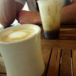latte and iced coffee