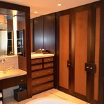 Bathroom with cupboards