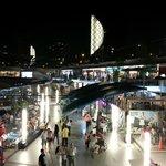 Larcomar Shopping Center at night.
