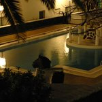 The pool at night - nice view from room
