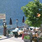 Terrasse vom Restaurant POSTamSEE direkt am Grundlsee