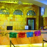 Front desk decorated for Fiesta