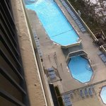 View of the outdoor pool from 12th floor balcony