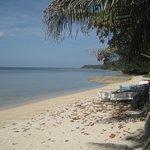 Blick vom Resort aus auf den Beach