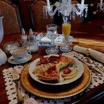 Breakfast served in elegant setting