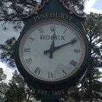 love the clock at the 1st tee