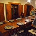 Dinner being set up at Dar Seffarine