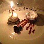 My birthday dessert