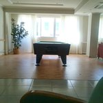 The pool table - also the wifi zone