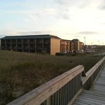 View of Quality Inn from beach access