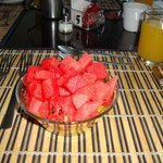 Fresh Watermelon & Pineapple with Breakfast Plus OJ