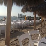 Buffet on the beach over on the Now Amber side
