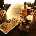A tasting tree of selected Monteiths beers and our seafood platter