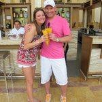 First drinks - Mango margaritas!