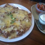 Beefy Nachos, home made nacho chips, delicious, my 3rd visit on my month trip to Vanuatu