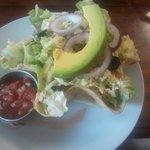 Taco Shell Salad, very nice