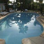 Zwembad vroeg in de ochtend
