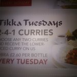 Curries on Tuesday