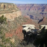 Grand Canyon view from outside the hotel