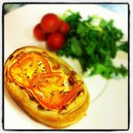 home made goats cheese tartles