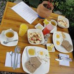 Frühstück mit Vollkornbrot
