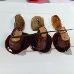 suprême de canette au foie gras, mousse de cèpes