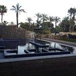 piscina exterior del spa