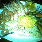 Sea food platter for one.