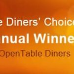 "Open Table ""Best Overall"" Diners' Choice Award"