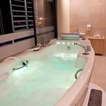 Our hydrotherapy tub, 120 jets, aromatherapy, color therapy & music therapy!