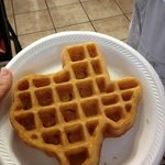 waffle maker is Texas shaped, lol