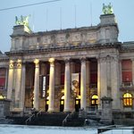 Royal museum of fine arts in the snow.