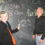 chalkboard in entrance
