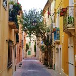 Street in Meze - a charming town to visit