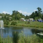 Pond and group tent site
