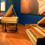 A glimpse of The Schubert Club Museum keyboard gallery.