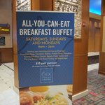 $18 Buffet Sign on 6th Floor at Bally's
