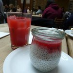 chia seed milk pudding and drink which tasted only of lemonade