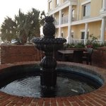 Fountain on the hotel grounds.