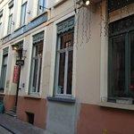 Street view of Hotel Cordoeanier, Bruges, Belgium